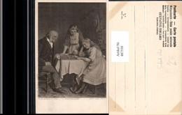 487558,Künstler Ak R. W. Wright Alter Mann U. Mädchen Brettspiel Spiele - Spielzeug & Spiele