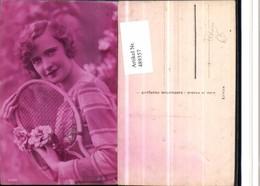 489357,Frau Sport Tennis Tennisschläger Portrait - Tennis