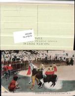 489389,Corrida De Toros Caida De Un Picador Stierkampf Stier Pferd - Stierkampf