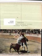 489387,Corrida De Toros Una Buena Vara Stierkampf Stier Pferd - Stierkampf