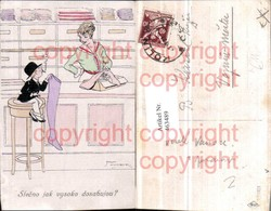 463489,Künstler AK Jalk Number Humor Bub Zigarette Strumpf Geschäft - Illustrateurs & Photographes