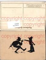 463635,Künstler AK Scherenschnitt Silhouette P. Konewka Siebenmeilenstiefel Pub G. Ca - Scherenschnitt - Silhouette