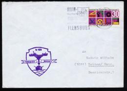 A4105) Bund Brief Von Marine Minenleger BOCHUM Von Flensburg 24.3.68 - Militaria