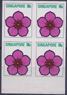SINGAPUR1973 - Yvert #190 - MNH ** - Pruebas En Bloque De 4 - !Raros! - Singapur (1959-...)
