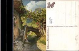487841,Künstler Ak Franz Bukacz Reklame Senftenberger Krone-Briketts - Werbepostkarten
