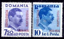 Romania-00107 - 1936: Y&T N. 510A+B (++) MNH - Privo Di Difetti Occulti - Ongebruikt