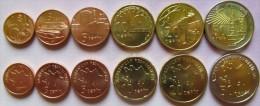 Azerbaijan- Aserbaidschan Set Of 6 Coins 2006 (1+3+5+10+20+50 Qapik) UNC (1 Coin - Bimetal)