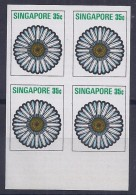 SINGAPUR1973 - Yvert #194 - MNH ** - Pruebas En Bloque De 4 - !Raros! - Singapur (1959-...)