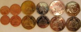 Gambia Set Of 6 Coins 1998 (1+5+10+25+50 Bututs + 1 Dalasi) UNC - Gambia