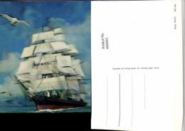 490995,3D 3 D 3-D Karte Wackelkarte Cutty Sark Segelschiff Möwen - Sin Clasificación