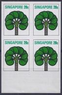 SINGAPUR1973 - Yvert #192 - MNH ** -  Pruebas En Bloque De 4 - !Raros! - Singapur (1959-...)