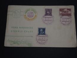 TCHÉCOSLOVAQUIE - Enveloppe Illustrée + Oblitération ( Thème Cheval ) En 1936 - A Voir - L 943