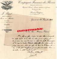23 - GUERET - FACTURE J. PAROT - AGENT ASSURANCES DU PHENIX-ROUTE DE MOULINS-1904 - Bank & Insurance