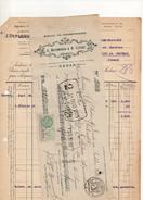 Facture Et Cheque Colle Agence De Charbonnages Depambour Et Lefort à Sedan Le 31 Octobre 1931 - Frankreich