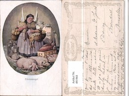 491968,Künstler AK Friedensengel Engel Schweine Mehl Pub B.K.W.I. 2208 - Engel