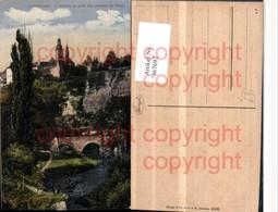 467692,Luxembourg L'Alzette Au Pied Des Rochers Du Bock Pub Stengel & Co 46886 - Ansichtskarten
