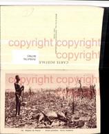 467985,Central Africa Paoua Arme Primitive Volkstyp Tier Gewehr - Ansichtskarten