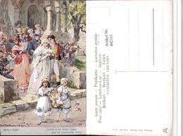 492111,Künstler AK H. Kaufmann Schillers Glocke Hochzeit Pub Theo Stroefer 643/5 - Hochzeiten