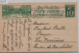 1924 Ziffer 90/3 - Carte Postale - Cachet: Geneve Exp.Lettr. - Bad Ragaz (Thermalschwimmbad) - Entiers Postaux