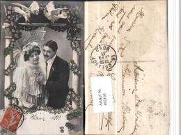 492105,Hochzeit Brautpaar Liebe Schleier Tauben Blumen - Hochzeiten