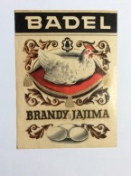 PATRIA   VINTAGE  LABEL  1950's.  BRANDY AERO COGNAC  CROATIA  ZAGREB  BADEL   15 X 11 Cm - Whisky
