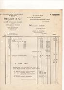 Facture Chaudronnerie Industrielle De Boulogne Renaux à Boulogne Billancourt Le 6 Mars 1935 - Frankreich