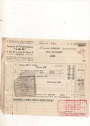 Facture Fabrique De Pompes Et Pulverisateurs LMG à Paris Le 7 Mai 1935 - Frankreich