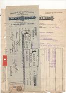 Facture Et Cheque Colle Fabrique De Quincaillerie Buffard Freres à Tinchebray Le 1 Juin 1933 - Frankreich
