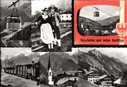 493580,Leporello Sammelmappe 12 Fotos Ansichten Mayrhofen Zillertal Hippach Seilbahn - Ansichtskarten