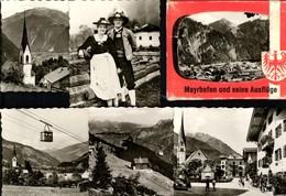 493575,Leporello Sammelmappe 9 Fotos Ansichten Mayrhofen Zillertal Paar Tracht - Ansichtskarten