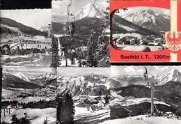 493564,Leporello Sammelmappe 10 Fotos Seefeld Tirol Ansichten - Ansichtskarten