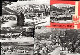 493562,Leporello Sammelmappe 9 Fotos Seefeld Tirol Ansichten - Ansichtskarten