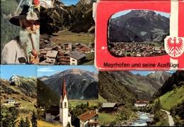 493570,Leporello Sammelmappe 11 Fotos Ansichten Mayrhofen Typen Seilbahn Dampflok - Ansichtskarten