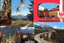493569,Leporello Sammelmappe 13 Fotos Ansichten Innsbruck Stadt - Ansichtskarten