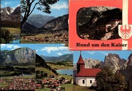 493566,Leporello Sammelmappe 10 Fotos Ansichten Rund Um D. Kaiser Kufstein Kaisertal - Ansichtskarten