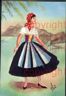 465374,Material Ak Stoff Frau Bestickt Emilia Costume Regionale Volkstypen Italien - Ansichtskarten
