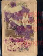 465380,Material Ak Taube Handgemacht Relief Aufgeklebt Blumen - Ansichtskarten