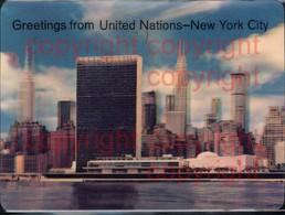465867,3D 3 D 3-D Karten Greetings From United Nations New York City Skyline - Ansichtskarten