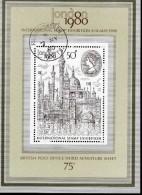GB Block 3 Briefmarkenausstellung London Gestempelt Used - Usados