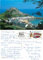 Mont Orgueil Castle, Jersey Postcard Posted 1998 Stamp - Jersey