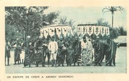 DAHOMEY UN GROUPE DE CHEFS A ABOMEY - Dahomey