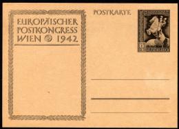 DEUTSCHES REICH 1942 - Europäischer Postkongreß Wien - P 294 B Mit Aufdruck 19.Okt.1942 - Post