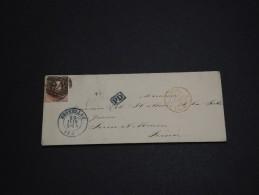 BELGIQUE - Enveloppe De Bruxelles Pour La France En 1858 - A Voir - L 963