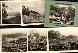 493582,Leporello Sammelmappe 12 Fotos Ansichten Ebensee Feuerkogel Seilbahn - Ansichtskarten