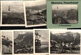 493581,Leporello Sammelmappe 12 Fotos Ansichten Ebensee Feuerkogel Seilbahn - Ansichtskarten