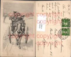 474061,Künstler Ak Kutsche Paar Winterlandschaft Pelz Muff - Taxi & Carrozzelle