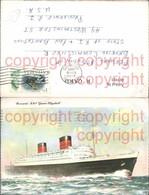 465983,Künstler Ak Hochseeschiff Schiff Cunard R.M.S. Queen Elizabeth - Handel