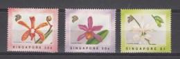 Singapore 1991,3V,set,flowers,bloemen,blumen,fleurs,flores,fiori,orchids,MNH/Postfris(A2598) - Orchideeën