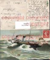 465990,Hochseeschiff Schiff Dampfer Segelboot Dans La Tempete Stürmische See - Handel