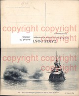 474006,Kriegsschiff Schiff Le Charlemagne Faisant Son Tir Des Pieces De 305 - Krieg
